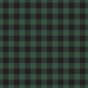 Reverse side - GREEN Buffalo Plaid 12x12 double-sided cardstock from Carta Bella