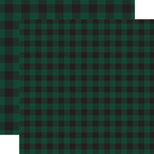 Load image into Gallery viewer, Dark Green Buffalo Plaid from Echo Park Paper Co.