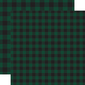 Dark Green Buffalo Plaid from Echo Park Paper Co.