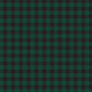 Front side - DARK GREEN Buffalo Plaid 12x12 double-sided cardstock from Carta Bella
