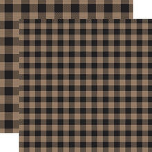 Load image into Gallery viewer, Tan Buffalo Plaid from Echo Park Paper Co.