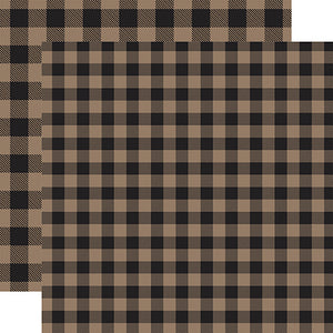 Tan Buffalo Plaid from Echo Park Paper Co.