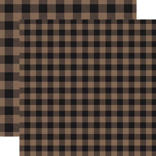TAN Buffalo Plaid 12x12 double-sided cardstock from Carta Bella