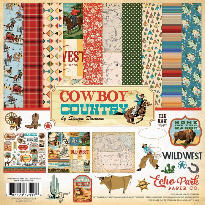 COWBOY COUNTRY 12x12 Collection Kit - Carta Bella