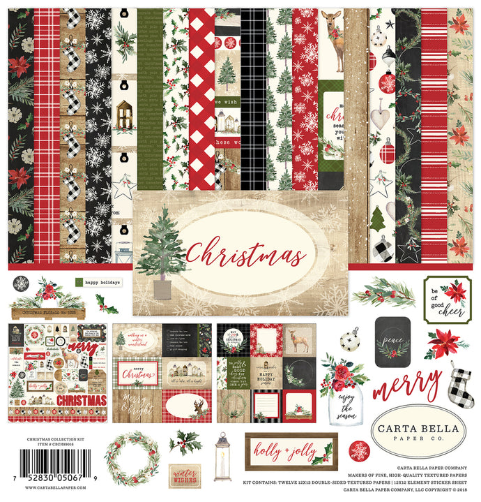CHRISTMAS 12x12 Collection Kit from Carta Bella Paper Co.
