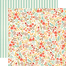"Load image into Gallery viewer, Fall Market ""Fall Floral"" double-sided 12x12 cardstock from Carta Bella Paper"