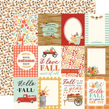 "Load image into Gallery viewer, Fall Market ""3x4 Journaling Cards"" double-sided 12x12 cardstock from Carta Bella Paper"