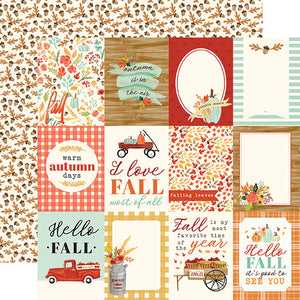"Fall Market ""3x4 Journaling Cards"" double-sided 12x12 cardstock from Carta Bella Paper"