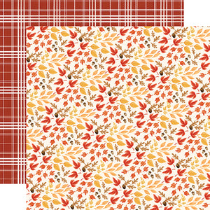 "Fall Market ""Rustling Leaves"" double-sided 12x12 cardstock from Carta Bella Paper"