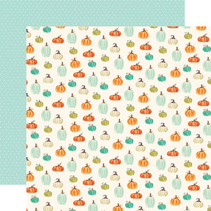 "Fall Market ""Pumpkin Patch"" double-sided 12x12 cardstock from Carta Bella Paper"