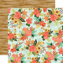 "Load image into Gallery viewer, Fall Market ""Autumn Floral"" double-sided 12x12 cardstock from Carta Bella Paper"