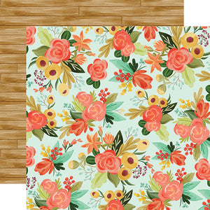 "Fall Market ""Autumn Floral"" double-sided 12x12 cardstock from Carta Bella Paper"