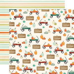 "Fall Market ""Wagon Time"" double-sided 12x12 cardstock from Carta Bella Paper"