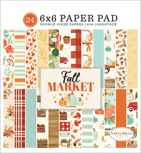 6x6 inch Fall Market Pad with images that coordinate with Fall Market Collection by Carta Bella - 24 sheets