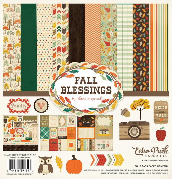 FALL BLESSINGS 12x12 Page Collection Kit from Carta Bella Paper Co.