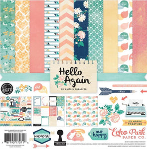 HELLO AGAIN 12x12 Collection Kit from Carta Bella Paper Co. - includes Element Sticker Sheet