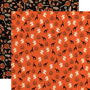 "Happy Halloween ""Happy Haunting"" double-sided 12x12 cardstock"