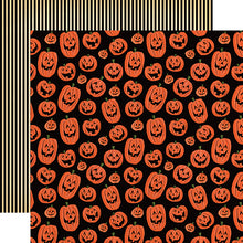 "Load image into Gallery viewer, Happy Halloween ""Laughing Pumpkins"" double-sided 12x12 cardstock"