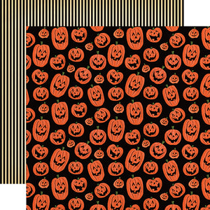 "Happy Halloween ""Laughing Pumpkins"" double-sided 12x12 cardstock"