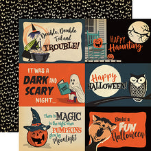 "Load image into Gallery viewer, Happy Halloween ""4x6 Journaling Cards"" double-sided 12x12 cardstock"