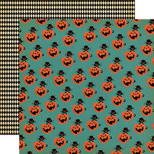 "Load image into Gallery viewer, Happy Halloween ""Toil and Trouble"" double-sided 12x12 cardstock"