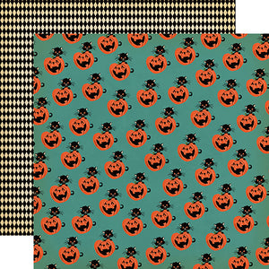 "Happy Halloween ""Toil and Trouble"" double-sided 12x12 cardstock"