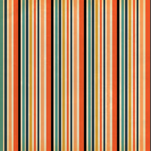 Load image into Gallery viewer, 12x12 patterned cardstock with multiple stripes in Halloween colors