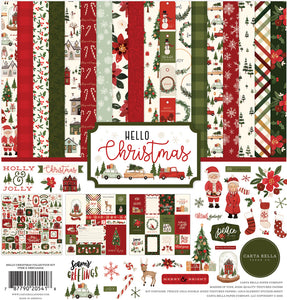 Hello Christmas - 12x12 patterned paper collection kit from Carta Bella Paper
