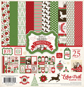 HAVE A MERRY CHRISTMAS 12x12 Page Collection Kit from Carta Bella Paper Co.
