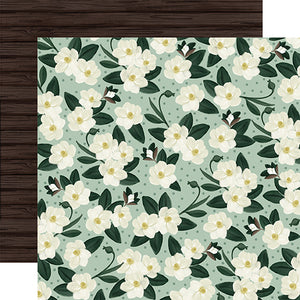 Magnolias - 12x12 double-sided cardstock from Home Again Collection by Carta Bella Paper Co.