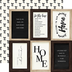 4x6 Journaling Cards - 12x12 double-sided cardstock from Home Again Collection by Carta Bella Paper Co.