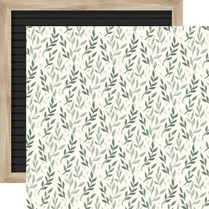 Leaves - 12x12 double-sided cardstock from Home Again Collection by Carta Bella Paper Co.