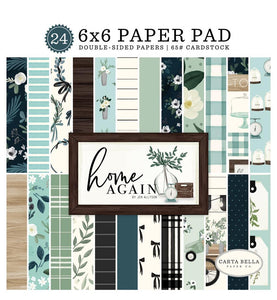 "24-page, 6x6 pad with double-sided papers to match ""Home Again"" Collection by Carta Bella Paper Co."