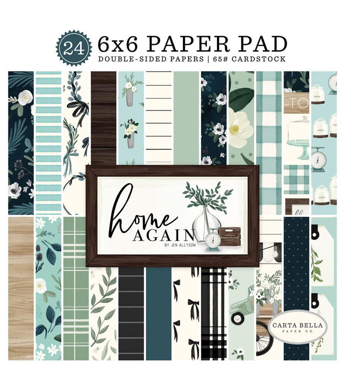 24-page, 6x6 pad with double-sided papers to match
