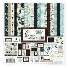 "Load image into Gallery viewer, 12 double-sided cardstock sheets from ""Home Again"" Collection by Carta Bella Paper Co."