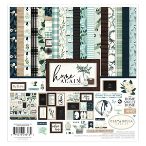 "12 double-sided cardstock sheets from ""Home Again"" Collection by Carta Bella Paper Co."