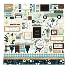 "Load image into Gallery viewer, 12x12 Sheet contains ""Elements"" stickers to match the Home Again Collection from Carta Bella Paper Co."