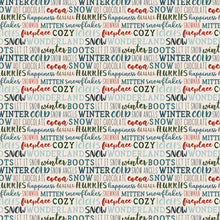 Load image into Gallery viewer, 12x12 cardstock with multiple lines of winter phrases like brrrr or snowflakes - on white background