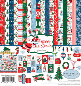 Merry Christmas - Twelve 12x12 Christmas-related patterned papers - Carta Bella Paper Co.