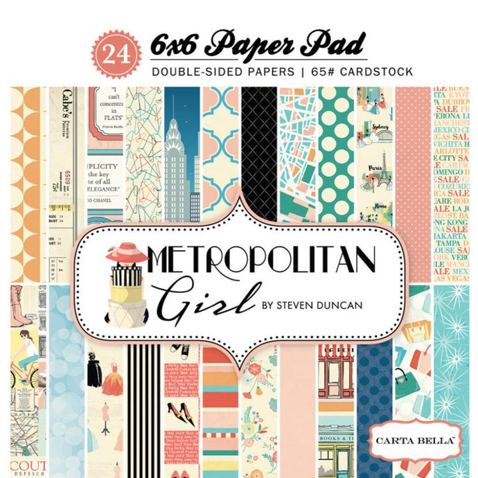 METROPOLITAN GIRL 6x6 paper pad from Carta Bella Paper Co.