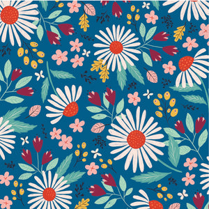 COUNTRY FLORAL 12x12 double-sided patterned paper by Echo Park Paper Co. - side A