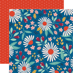 COUNTRY FLORAL 12x12 double-sided patterned paper by Echo Park Paper Co.