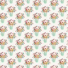 Load image into Gallery viewer, FLOWER POTS double-sided 12x12 patterned cardstock from Echo Park Paper Co. - Side A