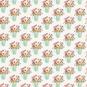 FLOWER POTS double-sided 12x12 patterned cardstock from Echo Park Paper Co. - Side A
