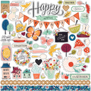 12x12 Element Sticker Sheet coordinates with OUR HOUSE Collection Kit by Carta Bella Paper Co.
