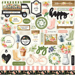 12x12 Element Sticker Sheet for SPRING MARKET Collection Kit by Carta Bella Paper Co.