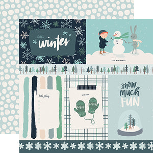 4x6 Journaling Cards - double-sided 12x12 cardstock from Snow Much Fun Collection by Carta Bella Paper Co.
