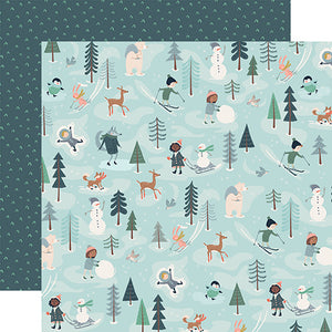 Fun with Friends - double-sided 12x12 cardstock from Snow Much Fun Collection by Carta Bella Paper Co.
