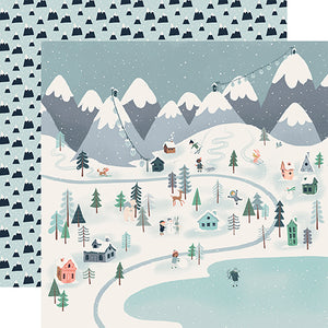 Winter Town - double-sided 12x12 cardstock from Snow Much Fun Collection by Carta Bella Paper Co.