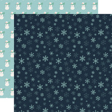 Load image into Gallery viewer, Snowflakes - double-sided 12x12 cardstock from Snow Much Fun Collection by Carta Bella Paper Co.